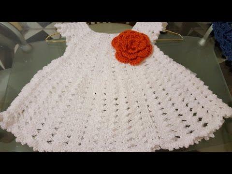👭Vestido en crochet (ganchillo) para niña
