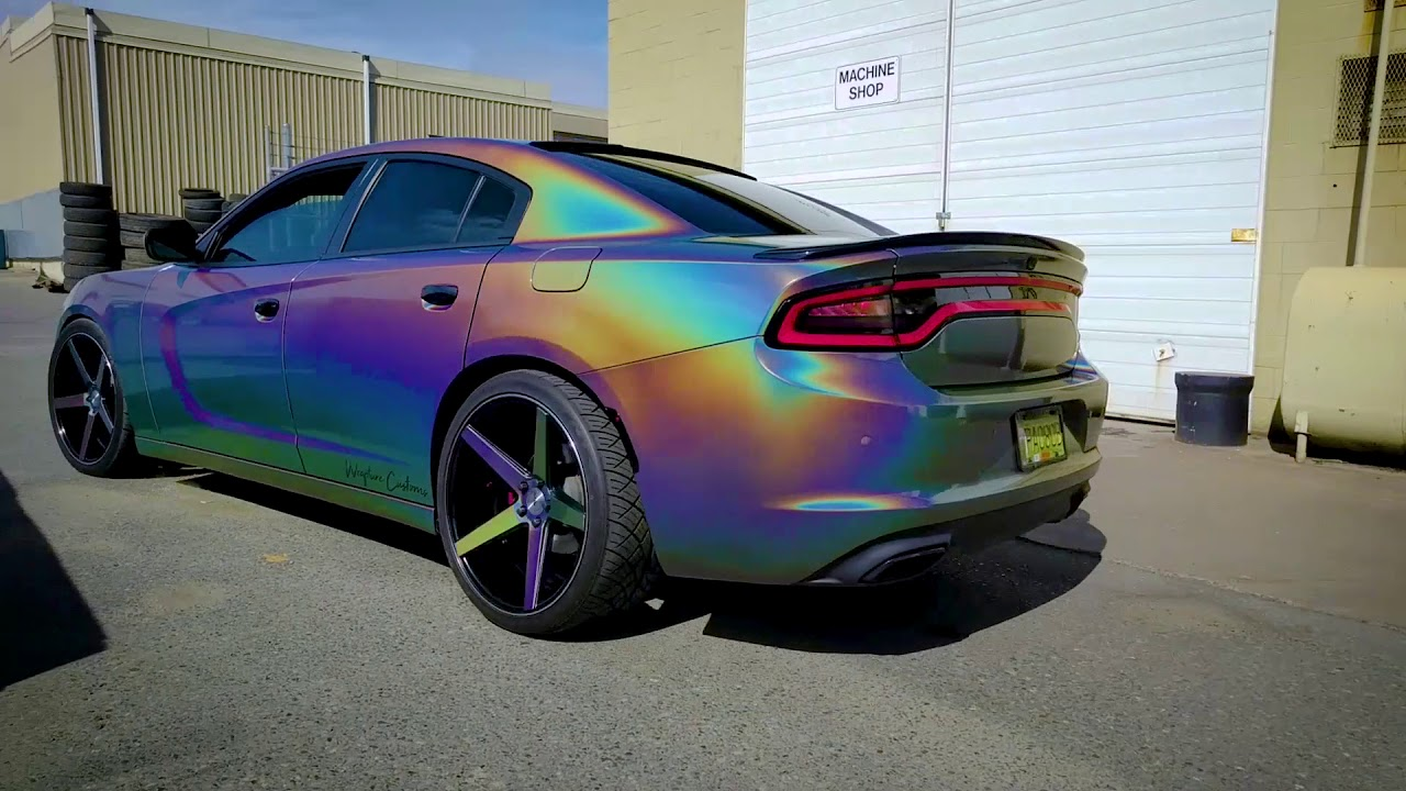 17 Charger Hellcat >> Wrapture Customs - Psychedelic Charger - Teaser 1 - YouTube
