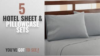 Top 10 Hotel Sheet & Pillowcase Sets [2018]: HC COLLECTION-Hotel Luxury Bed Sheets Set 1800 Series
