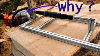 Why DIY Chainsaw Mill beats Band Mill (cutting a Massive Oak)