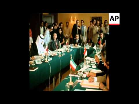 SYND 11-6-72 OPENING SESSION OF OPEC CONFERENCE IN BEIRUT HOTEL