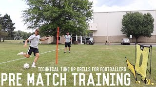 Pre Match Tune Up Session | Low Intensity First Touch, Passing and Finishing Training Drills