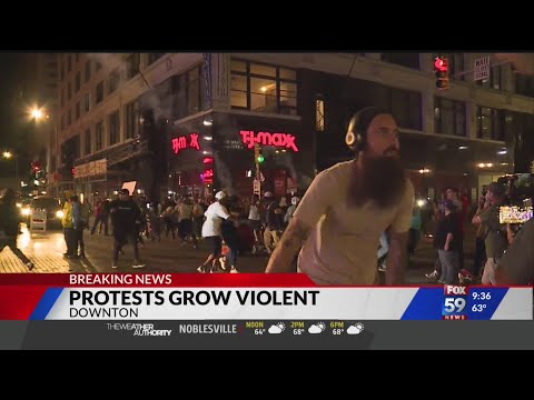 Indianapolis protests turn violent