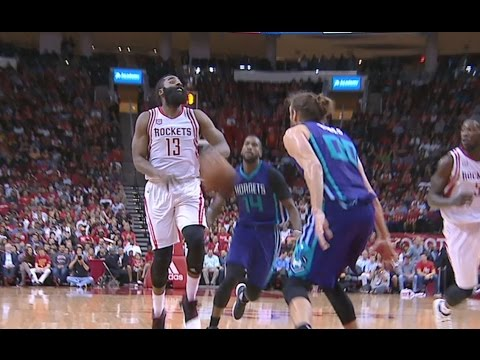 Harden Sneaky No-Look Bounce Pass to Harrell |...