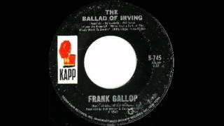 Frank Gallop - The Ballad Of Irving