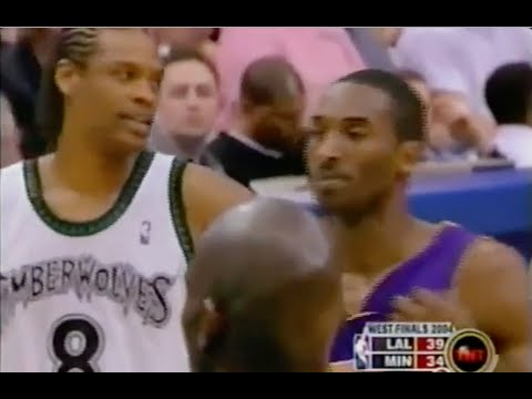 Latrell Sprewell Great Defense on Kobe Bryant - 2004 NBA WCF