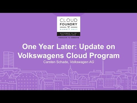 One Year Later: Update on Volkswagens Cloud Program - Carste