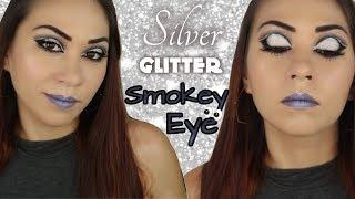Gray & Silver Glitter Smokey Eye ll Ace Beaute PARADISE FALLEN Palette