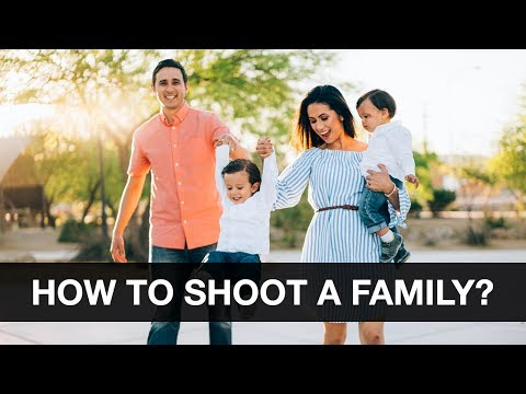 How To Shoot Family Portraits Outdoors - Behind the Scenes Photoshoot