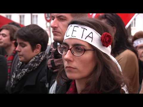Paris. Rassemblement contre l'application du CETA