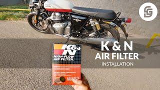 K&N Air Filter Installation
