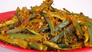 Bhindi Rava Fry - Quick And Crispy Recipe