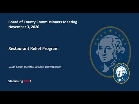 Washington County Board of County Commissioner's Meeting 11/3/2020