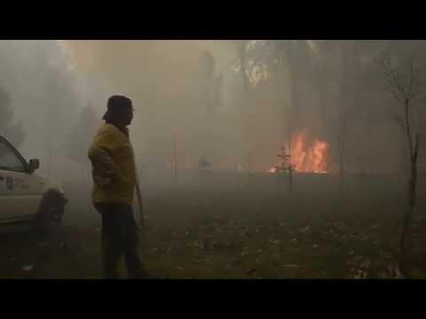 Incendio en Ponteareas, Pontevedra, 25/03/2015
