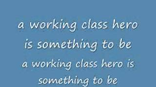 John Lennon-Working Class Hero Lyrics