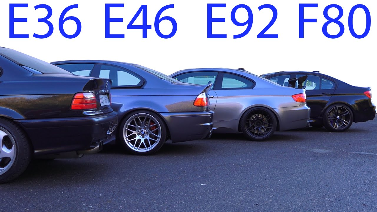 Bmw M3 E30 Vs M3 E36 Vs M3 E46 Vs M3 E92 Vs M3 F80 Sound Battle 5