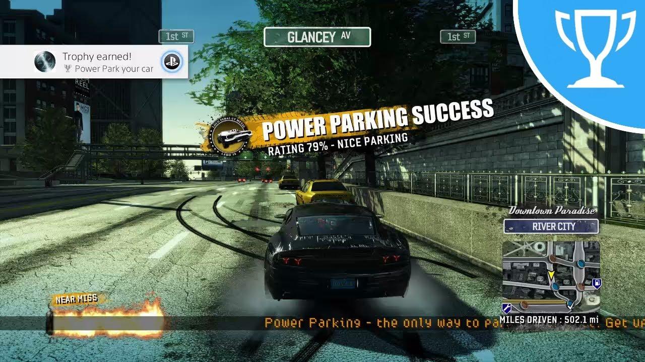 burnout paradise ps4 power park your car trophy. Black Bedroom Furniture Sets. Home Design Ideas