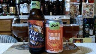 Full Tilt Brewing Patterson Pumpkin 2013 vs 2019 (9.0% ABV) DJs BrewTube Beer Review #1266-1267