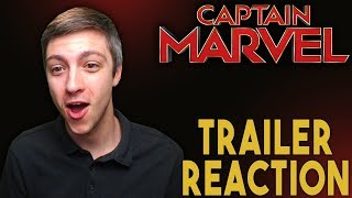 Marvel Studios' Captain Marvel - Official Trailer Reaction!