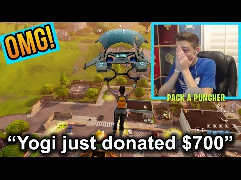 THE BIGGEST DONATION EVER!!! Someone donated $700?!?! | INSANE Reaction w/ Fortnite Wins!