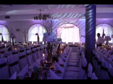Dekoracje Weselne - Efekt Oświetlenia Sali Weselnej światłem Led