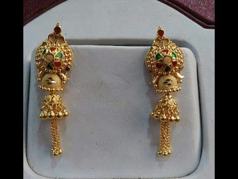 Gold Earrings Light Weight Daily Wear Latest Designs