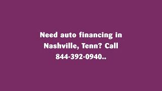 Easy Auto Financing For Low Income Car Buyers in Nashville Tennessee. Bad Credit Car Dealers Nash...