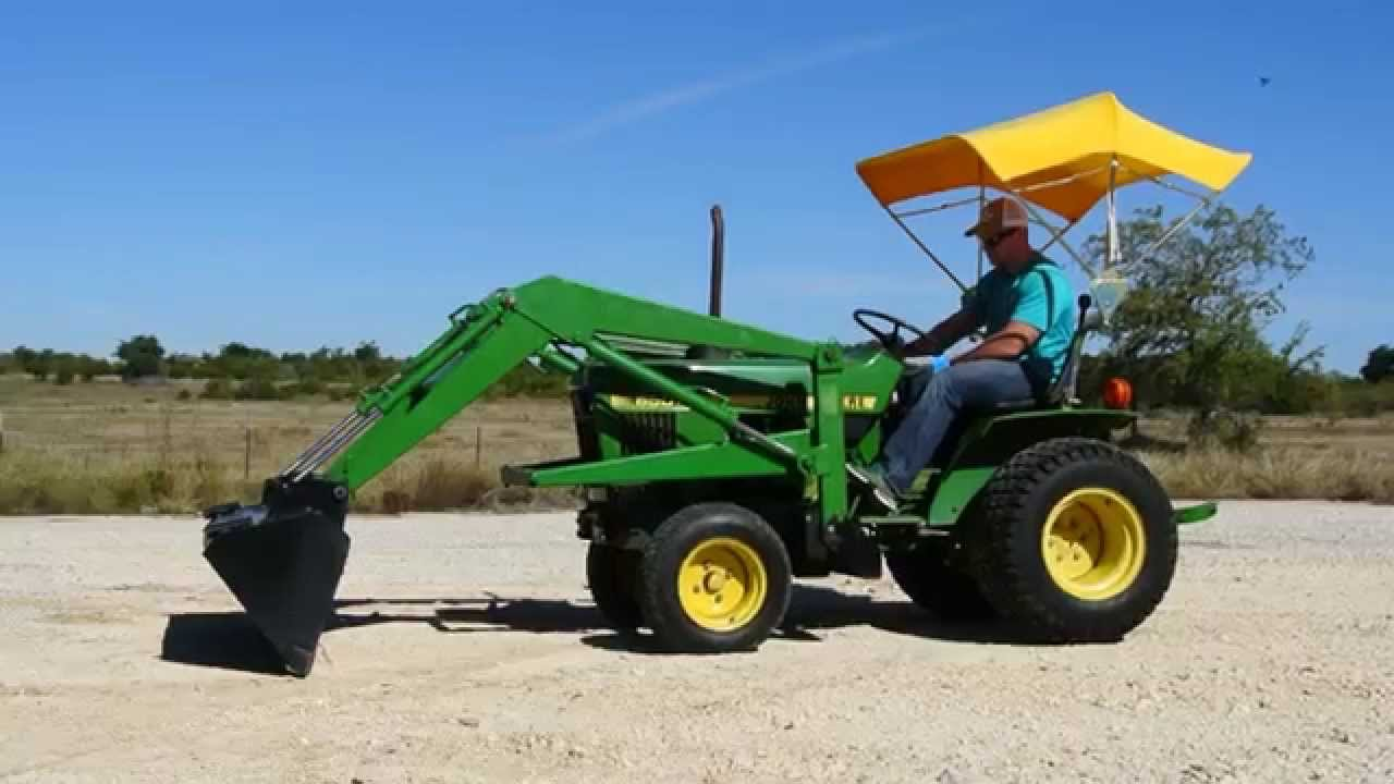 John Deere 650 >> Demo Video Of 17hp John Deere 650 Tractor W Loader And Yellow Soft