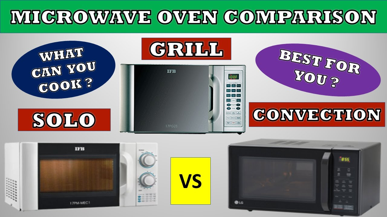 solo vs grill vs convection microwave oven which is better comparison