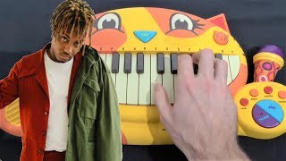 JUICE WRLD - LUCID DREAMS ON A CAT PIANO AND A DRUM CALCULATOR