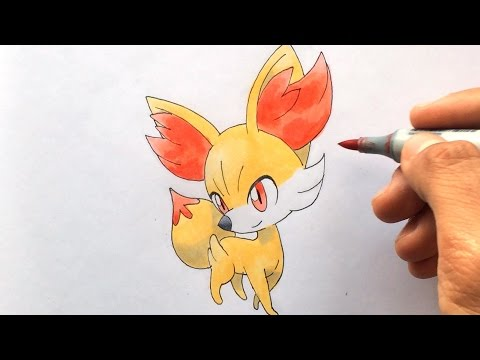 How To Draw Fynx Fennekin フォッコ Feunnec Pokemon X Y No
