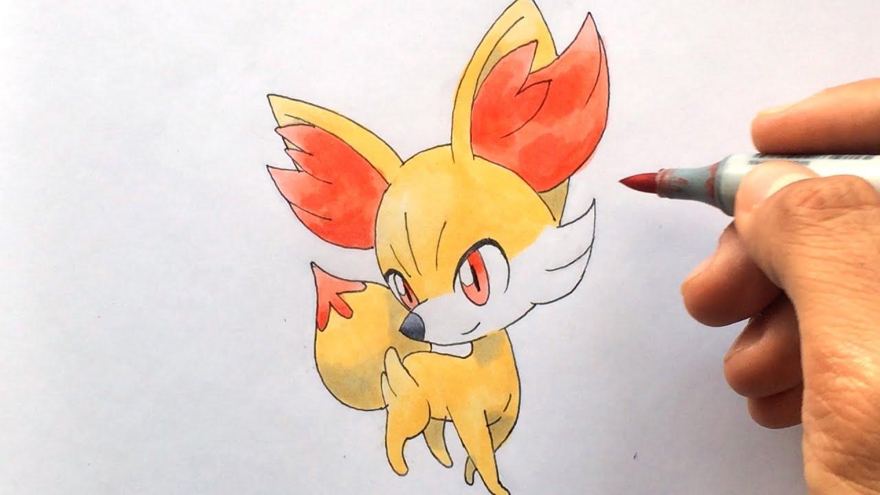 How To Draw Fynx Fennekin フォッコ Feunnec Pokemon X Y No 653