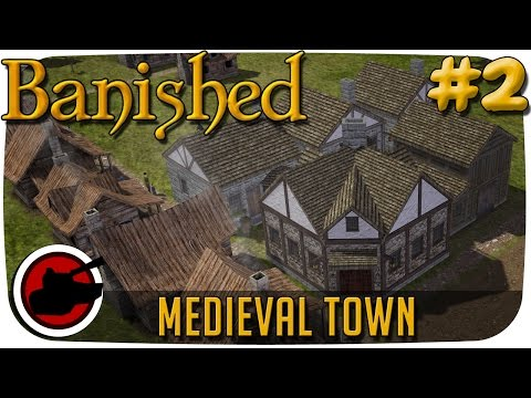 Banished ► Medieval Homes & Gardens! (#2) - Banished Medieval Town Mod Gameplay