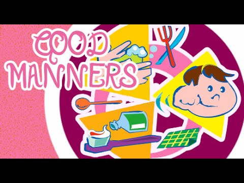 good manners for children in english good habits and manners for  good manners for children in english good habits and manners for kids animation video