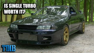 homepage tile video photo for 500HP Nissan GTR R32 V-SPEC Review! Is Single Turbo Worth the Money?