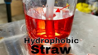 Can You Drink With a Hydrophobic Straw?