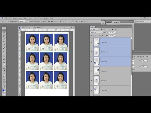 รูปติดบัตรขนาด 1.5นิ้ว ด้วย Adobe Photoshop