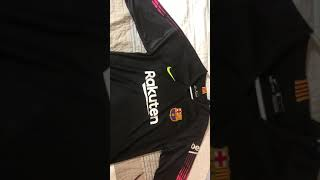 Minejerseys 18-19 barcelona home goalkeeper jersey unboxing review