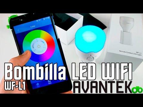 Bombilla LED Inteligente con WIFI WF-L1 de Avantek Unboxing, Review, Tutorial y Test