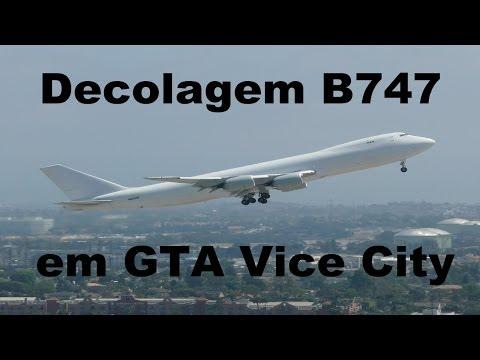 Decolagem/Take Off Boeing 747-400 em GTA Vice City