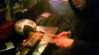 String Drums with tapes, detuned scanner and samples