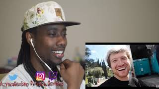 David Dobrik JUMPING OFF ROOF INTO 10,000 POUNDS OF DRY ICE!! STUNT REACTION
