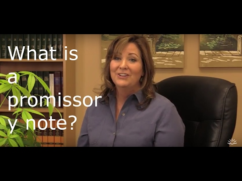 What is a promissory note?
