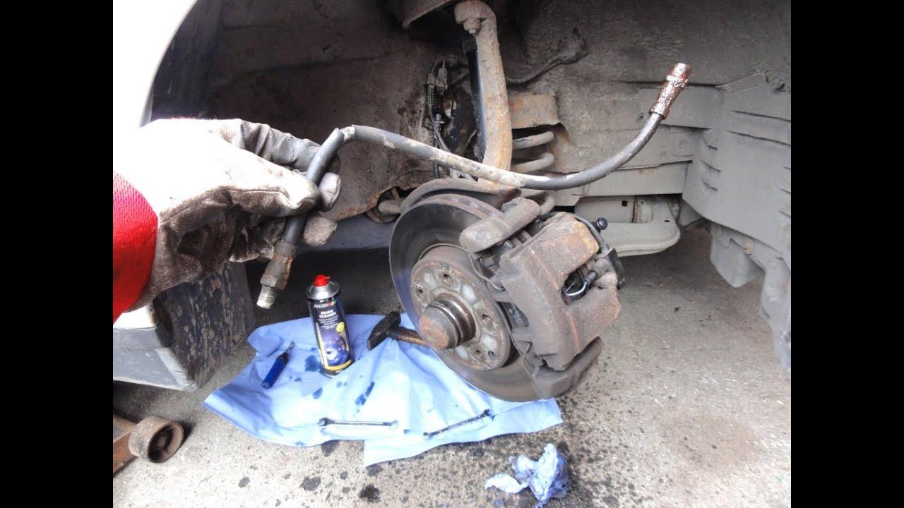 Замена тормозного шланга w211 Заправка кондиционера хендай таракан