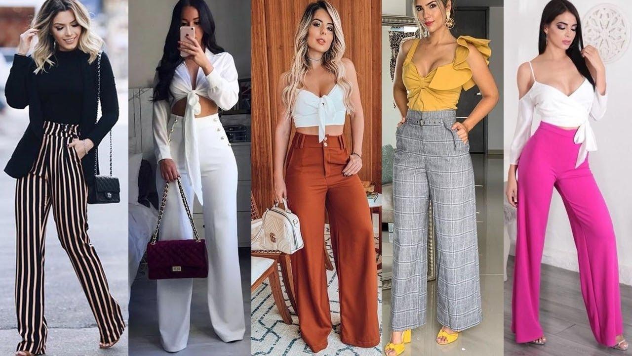 Pantalones En Tendencia 2019 2020 Looks Elegantes Y Casuales Con Palazos Youtube