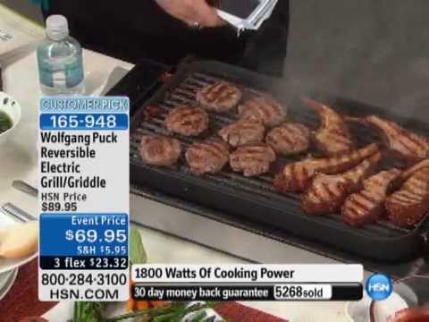 Wolfgang Puck Indoor Reversible Electric Grill Griddle - YouTube