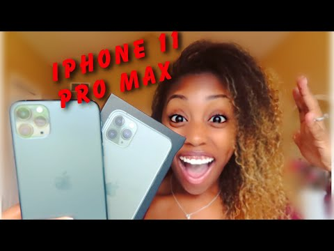 IPHONE 11 PRO MAX TOP 11 FEATURES!!!!!!!! MIDNIGHT GREEN   UNBOXING IPHONE 11 PRO MAX