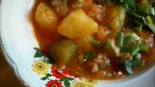 Свинина с солеными огурцами / Porc sauté aux  cornichons salés
