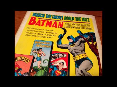 COMIC MAN PRODUCTIONS: AURORA DC SUPERHERO SUPERMAN BATMAN WONDER WOMAN MODEL KIT COMIC BOOK AD 1966