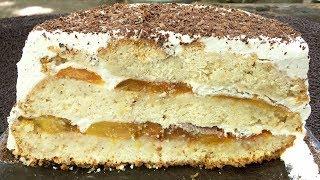 """Тортик """"Персиковое наслаждение"""" просто и запредельно вкусно!!!"""